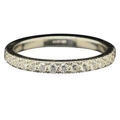 Tiffany Diamond Platinum Half Eternity Ring
