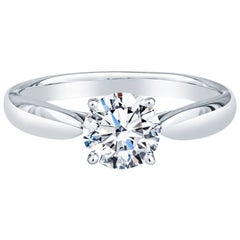 Tiffany & Co. .88ctw Harmony Round Brilliant Cut Diamond Engagement Ring