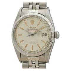 Rolex Stainless Steel Oyster Perpetual Datejust Wristwatch Ref 6605