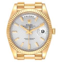 Rolex President Day-Date 18K Yellow Gold Mens Watch 228238 Unworn