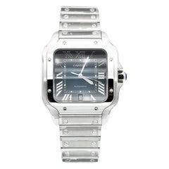 New Cartier Santos De Cartier Watch, Blue Dial