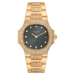Patek Philippe Nautilus 18K Yellow Gold Diamond Ladies Watch 4700