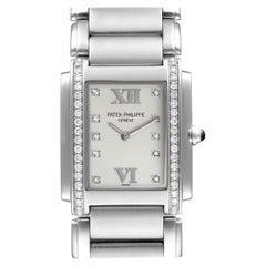Patek Philippe Twenty-4 Stainless Steel Diamond Ladies Quartz Watch 4910