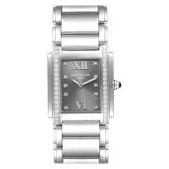 Patek Philippe Twenty-4 Grey Diamond Dial Steel Ladies Watch 4910