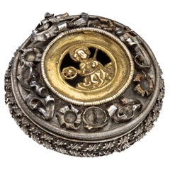 Fifteenth Century Reliquary Pendant with St. Catherine