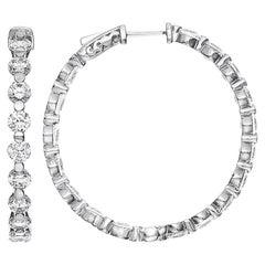 Emilio Jewelry 5.40 Carat Single Prong Hoop Earring
