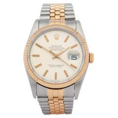 Rolex Datejust 0 16233 Unisex Yellow Gold & Stainless Steel 0 Watch