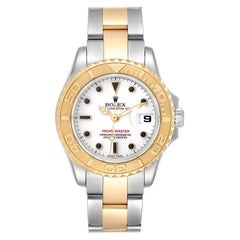 Rolex Yachtmaster White Dial Steel Yellow Gold Ladies Watch 169623