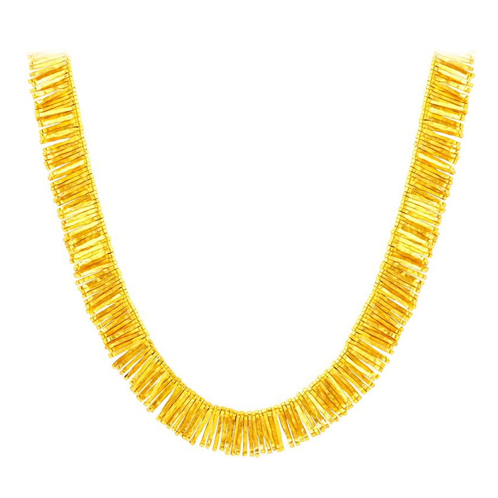 Handcrafted 24K Gold Ancient Hellenistic Era Inspired Wire Necklace