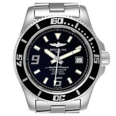 Breitling Aeromarine Superocean 44 Black Dial Steel Mens Watch A17391