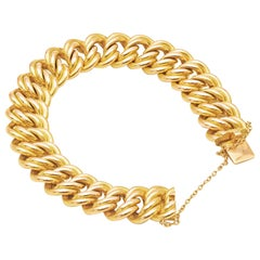 American Mesh or Armlet Bracelet, in 18K Yellow Gold with Chain