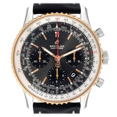 Breitling Navitimer 01 Grey Dial Steel Rose Gold Mens Watch UB0121 Box Papers