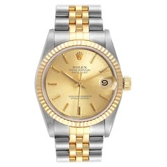 Rolex Datejust Midsize Steel Yellow Gold Ladies Watch 68273