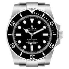 Rolex Submariner Black Dial Ceramic Bezel Steel Watch 114060