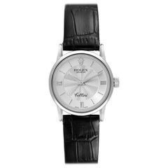Rolex Cellini Classic White Gold Silver Dial Ladies Watch 6111 Papers