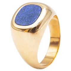 18K Yellow Gold and Lapis Lazuli Ring