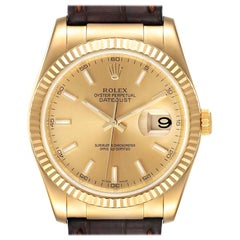 Rolex Datejust 36 Yellow Gold Champagne Dial Mens Watch 116138