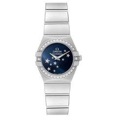 Omega Constellation Orbis Star Steel Diamond Watch 123.15.24.60.03.001 Box Card