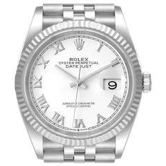 Rolex Datejust Steel White Gold Silver Dial Mens Watch 126234 Unworn