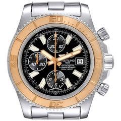 Breitling Aeromarine SuperOcean II Steel Rose Gold Watch C13341 Box Papers