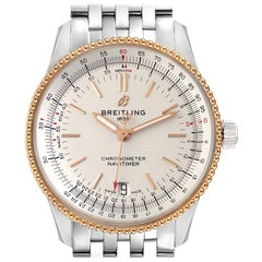 Breitling Navitimer 1 Steel Rose Gold Mens Watch U17325 Box Papers