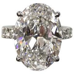 FLAWLESS Type IIA GIA Certified 5 Carat Oval Brilliant Cut Diamond Ring