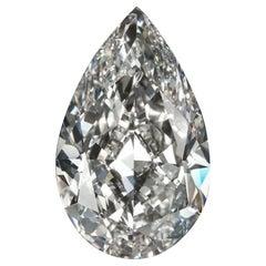 FLAWLESS GIA Certified 8.02 Carat Pear Cut Diamond Loose Stone
