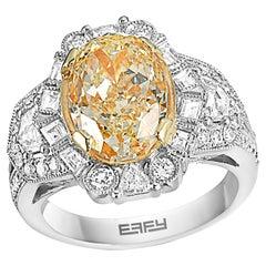 Effy Hematian 18 Karat White & Yellow Gold Diamond & Yellow Diamond Ring