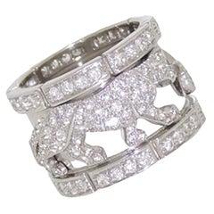Cartier Panther Mahango 18k White Gold Diamond Ring