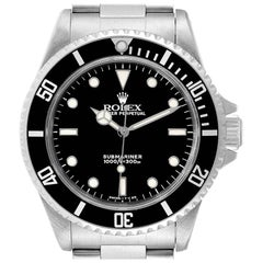 Rolex Submariner Non-Date 2 Liner Steel Mens Watch 14060 Box Papers