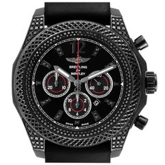 Breitling Bentley Barnato Black Dial Diamond Mens Watch M41390 Box Card