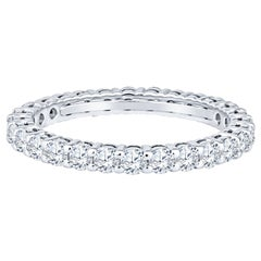 Tiffany & Co. Embrace Platinum Band Ring, .85ctw Round Diamonds