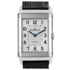 Jaeger LeCoultre Reverso Classic Silver Dial Mens Watch Q3828420 Box Papers