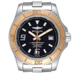 Breitling Superocean 44 Steel Rose Gold Black Dial Mens Watch C17391
