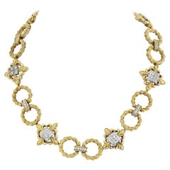 Wander France 18K Yellow Gold Open Link Diamond Necklace