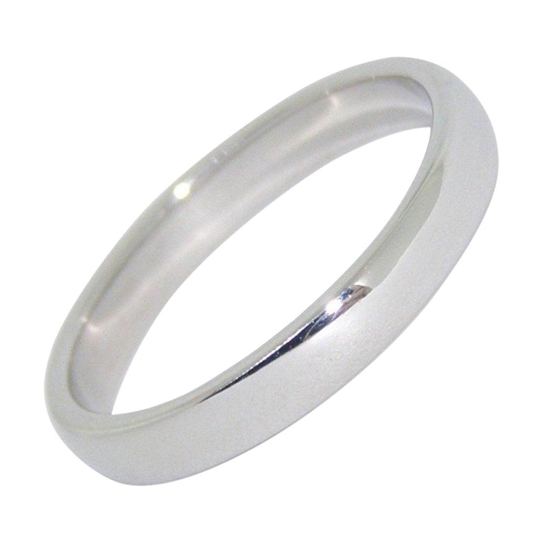 Tiffany & Co Platinum Lucida Wedding Band Ring Wide