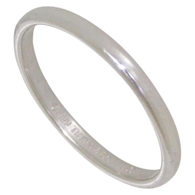 Tiffany & Co Platinum Lucida Wedding Band Ring