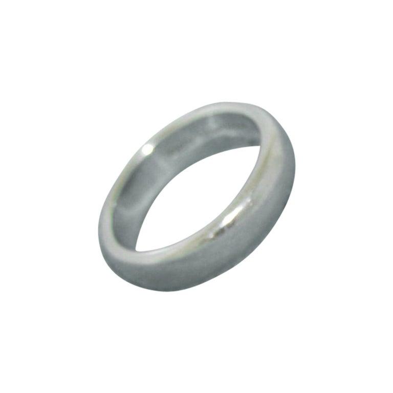 Tiffany & Co. Platinum Lucida Wedding Band Ring For Sale