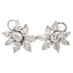 Emilio Jewelry GIA Certified Diamond Cluster Earrings