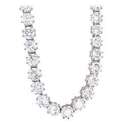 Emilio Jewelry 36.00 Carat Octagon Cut Diamond Choker Necklace