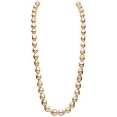 Yoko London Baroque Golden South Sea Pearl Necklace