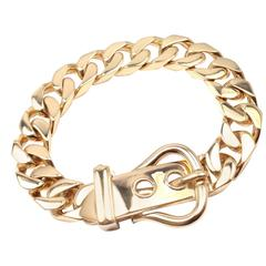 Hermes Gold Curb Link Chain Large Buckle Bracelet