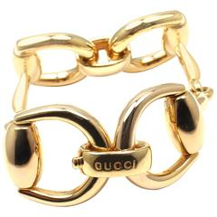 Gucci Gold Horsebit Large Link Bracelet