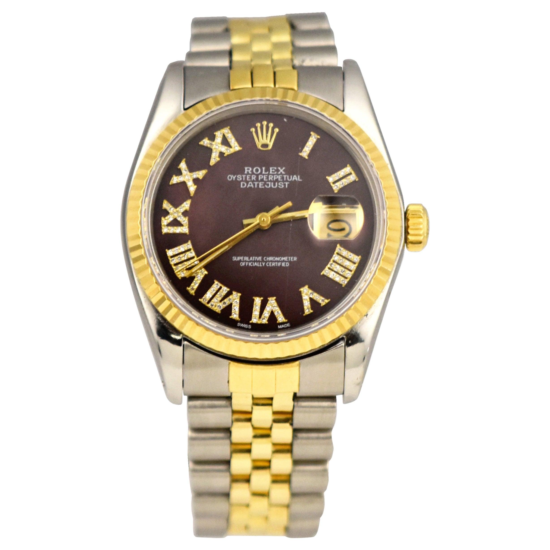 Rolex Datejust Ref. 16013 in 18k Yellow Gold & Steel Watch