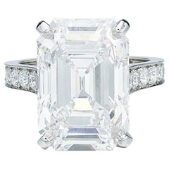 Exceptional GIA Certified 5 Carat Flawless D Color Emerald Cut Diamond Ring
