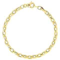 Roberto Coin Yellow Gold High Polish Almond Link Bracelet 5310086AYLB0
