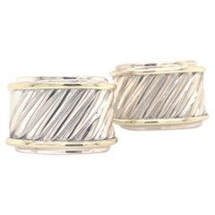 David Yurman Estate Cufflinks Sterling Silver 14k Gold 13.3 Grams