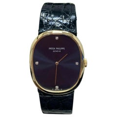 Patek Philippe Ellipse 3748 Blue Diamond Dial with Black Leather Band