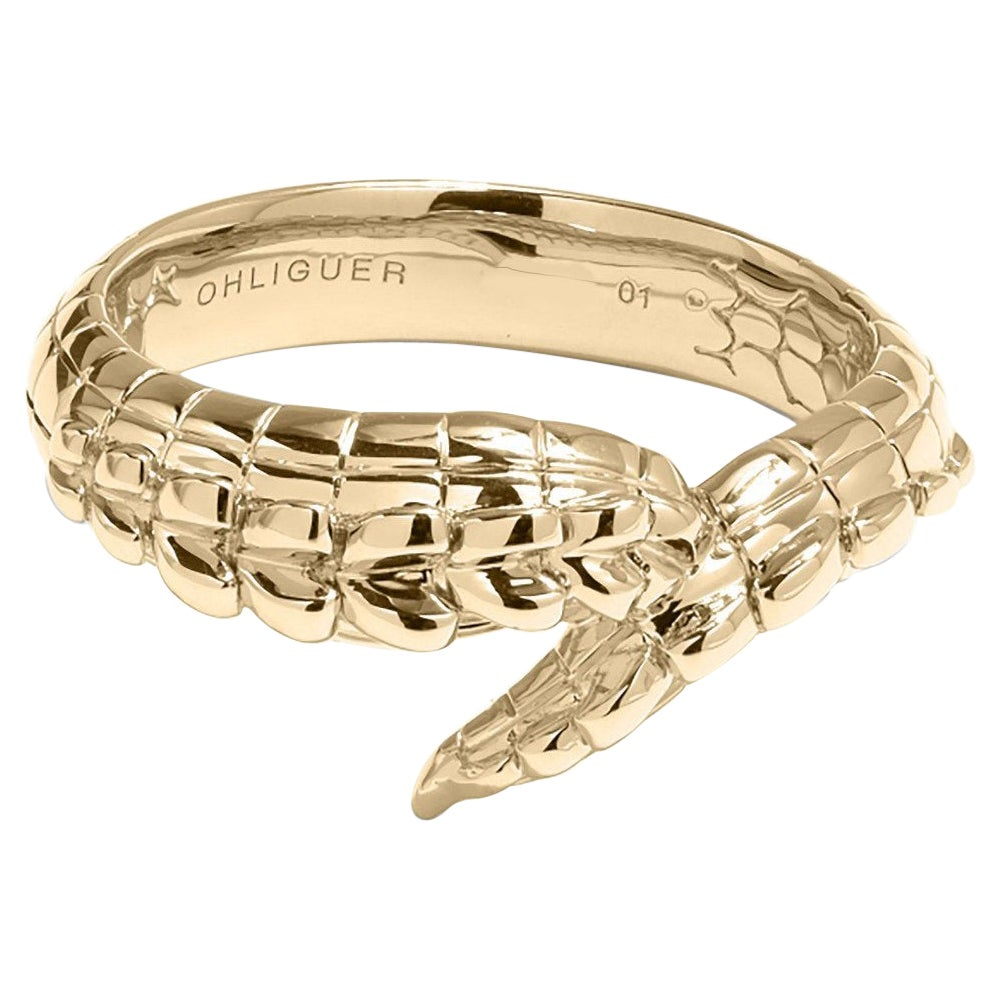 Crocodile Tail Ring in 18ct Yellow Gold