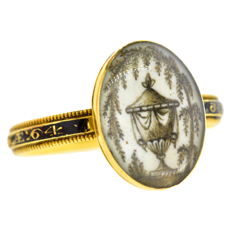 Antique Georgian Memorial Ring, c. 1780